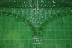 Arch tiles  in a resedential swimming pool based on Victoria Baths in Manchester
