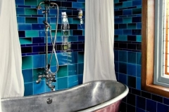 Debenham blue tiles using tiles of different sizes