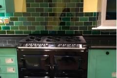 """Debenham green blend tiles 6""""x3"""""""