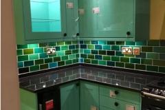 """Debenham blend green tiles 6""""x3"""""""