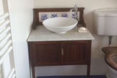 Wash stand incorporating William Morris floral tiles