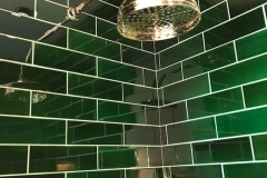 "9""x3"" emerald shower tiles"