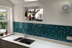 Rhombus tiles in Turquoise