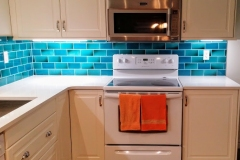 "6""x3"" turquoise kitchen tiles"